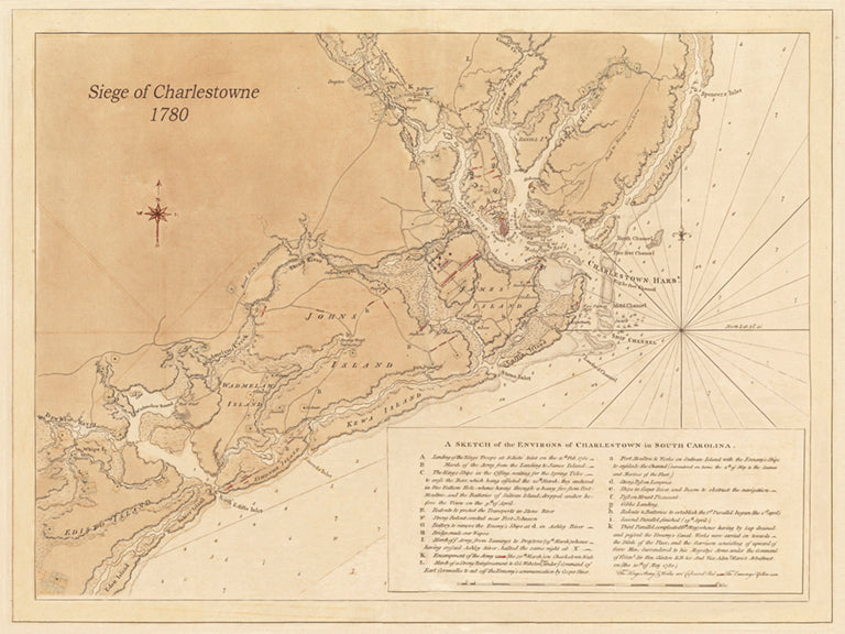 1780 Siege of Charlestown - Revolutionary War  (Horizontal view)