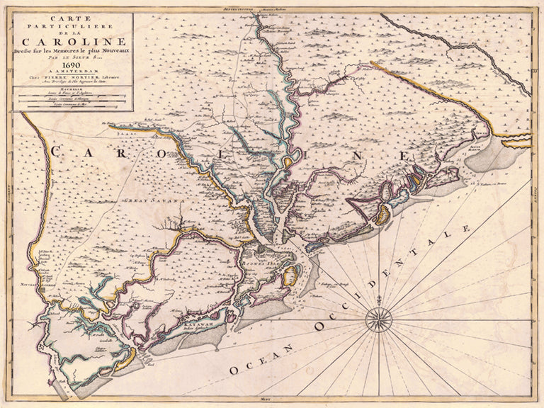 1690 Caroline (French map of Carolina)