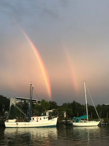 Double Rainbow over Shem Creek