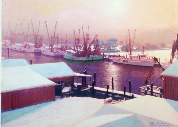 Shem Creek in the Snow 1973