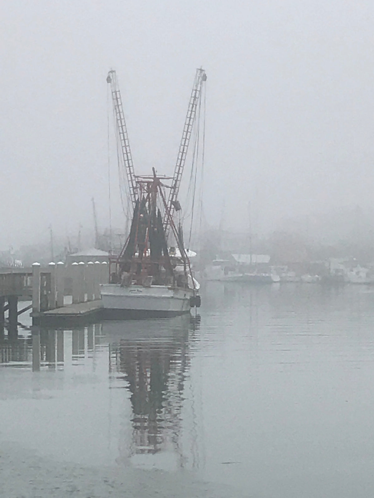 Shrimp Boat in the Mist by Steven Jordan