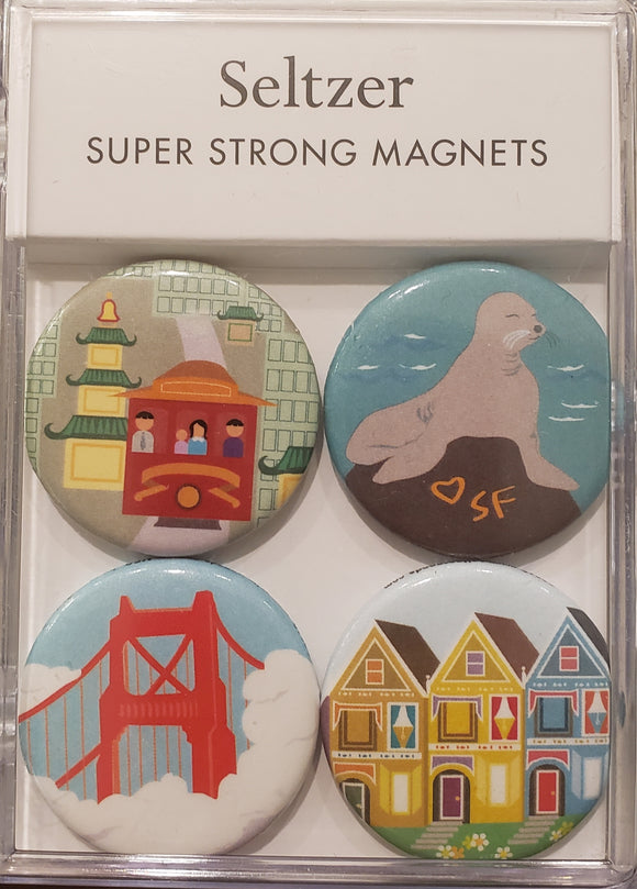 San Francisco Sites Magnet Set of 4