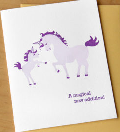 Magical Addition Unicorn - Baby Card