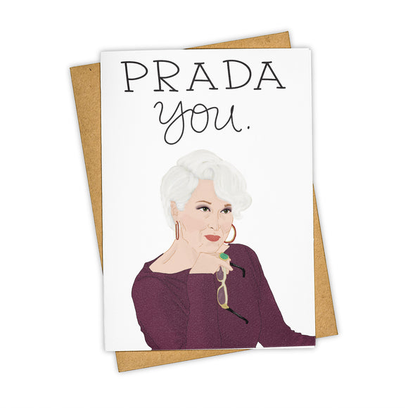 Prada You - Congratulations Card