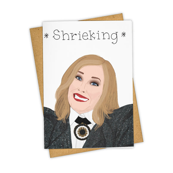 Moira Shrieking Card - All Occasion / Humor Card