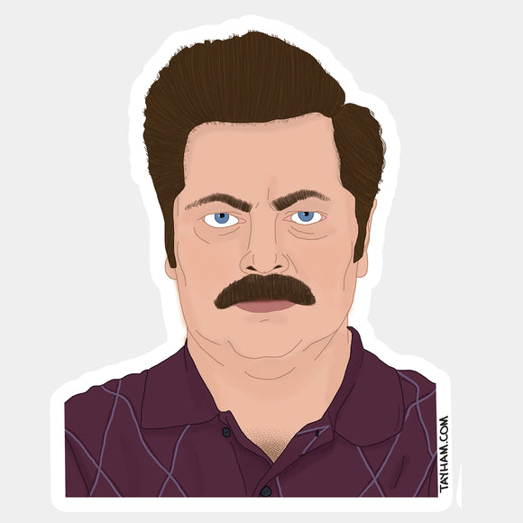 Ron Swanson Sticker - Parks and Recreation