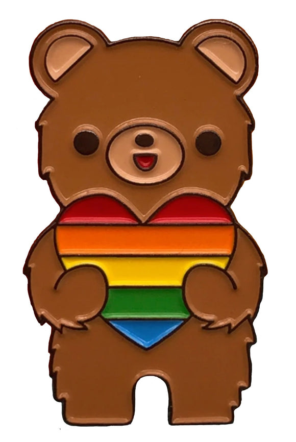 Love is Love Bear Pin