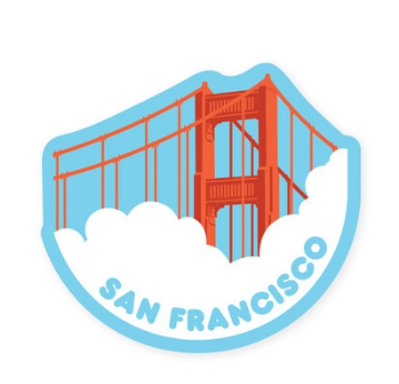 SF Bridge Fog Sticker