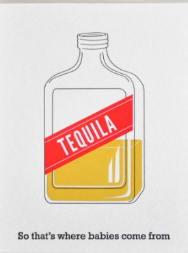 Tequila - Baby Card
