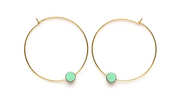 Color Story Hoops - Aquamarine