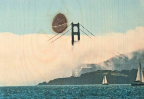 Afternoon Fog + GGB Postcard