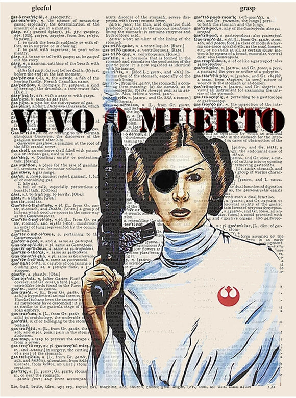 Dead or Alive Leia Print - Art n Wordz