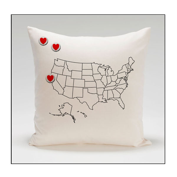 US Hearts Pillow