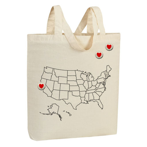 US Hearts Tote Bag