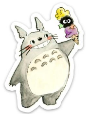 Totoro with Ice Cream Sticker