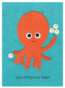 You Octopi My Heart - Note Card