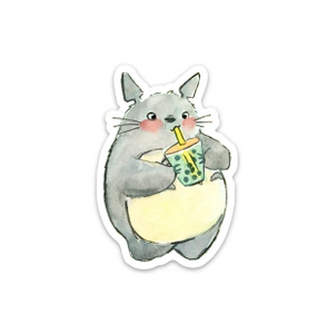 Totoro with Boba Sticker