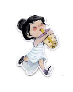 Boba Girl Sticker