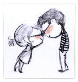 Clink Couple Sticker