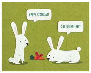 Gluten Free - Birthday Card
