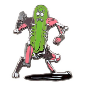 Cyborg Pickle Rick Enamel Pin - Rick and Morty