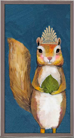 Squirrel King Framed Canvas 5x10