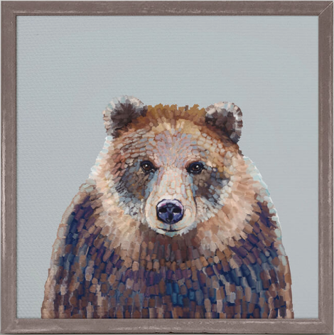 Bear Hug Framed Canvas 6x6