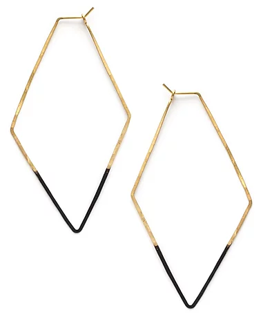Mired Metal Rhombus Hoops