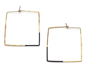 Mired Metal Square Hoops