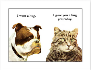 Bulldog Hug Card