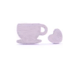 Coffee Love Studs - Silver