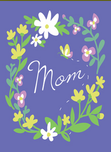 Purple Floral Mom - Mother's Day Card