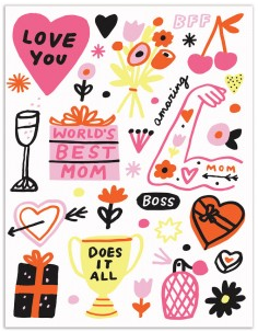 World's Best Mom - Mother's Day Card