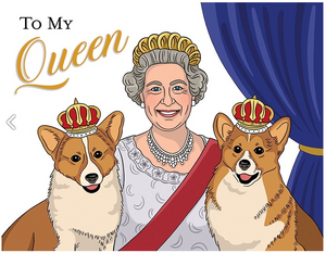 Queen of England Mother's Day Card