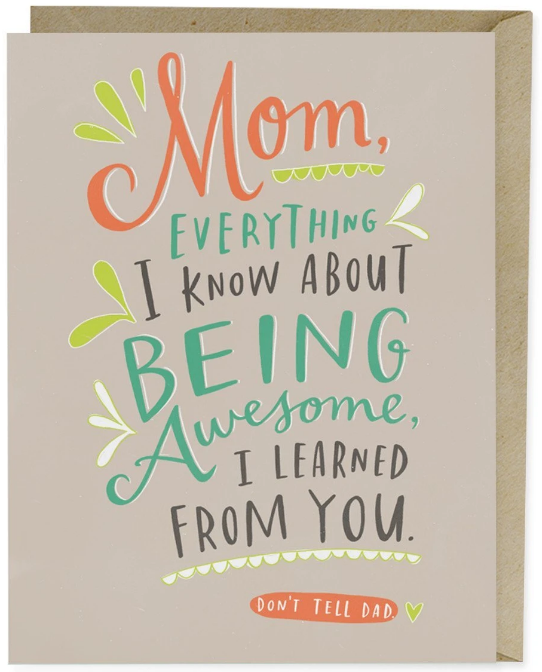 Don't Tell Dad - Mother's Day Card