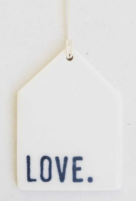 Love. - Mini Porcelain Wall Tag