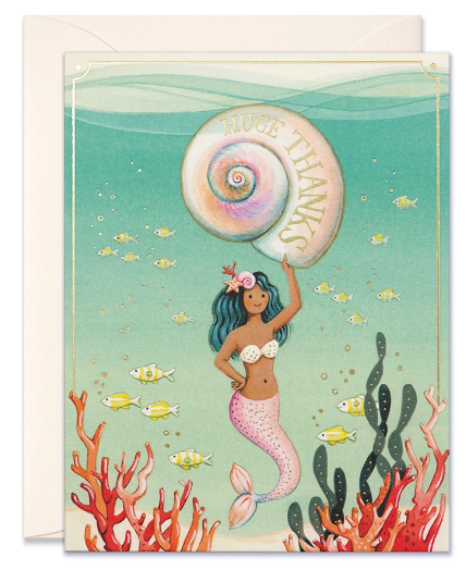 Mermaid - Thank you card
