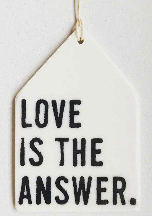 Love is the the Answer - Mini Porcelain Wall Tile