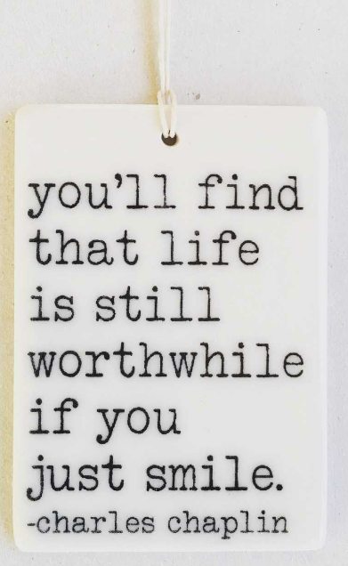 Life is worth living... - Mini Porcelain Wall Tag