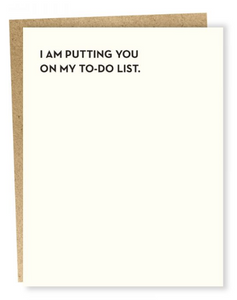 To-Do List - Love/Anniversary Card