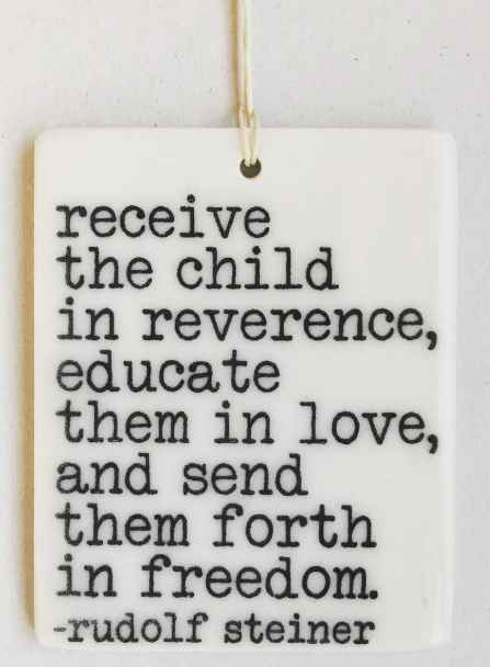 Receive the child in reverence... - Mini Porcelain Wall Tag