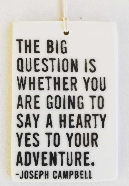 The big questions is... - Mini Porcelain Wall Tag