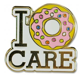 I Donut Care Enamel Pin