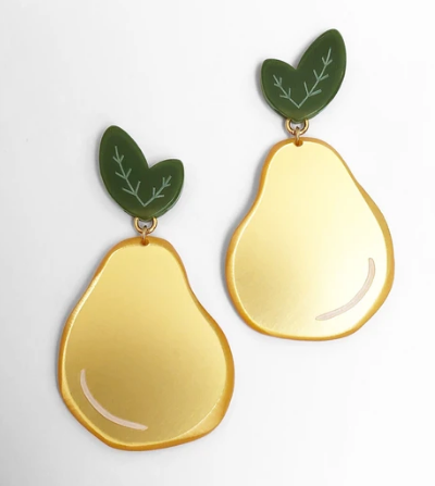Pear Earrings Lg