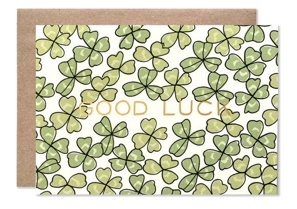 Good Luck Shamrock Card - Congratulations Cards