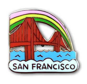 San Francisco GGB Enamel Pin - The Found