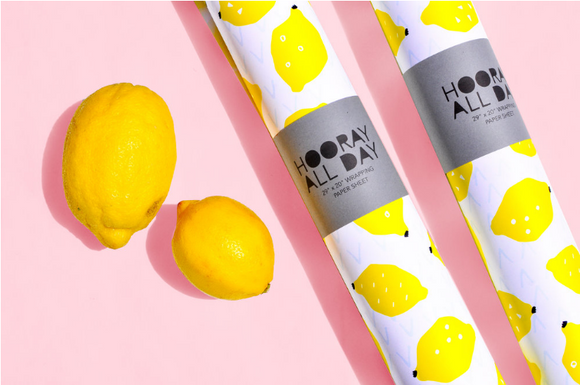 Lemon Wrapping Paper - 2 Sheets