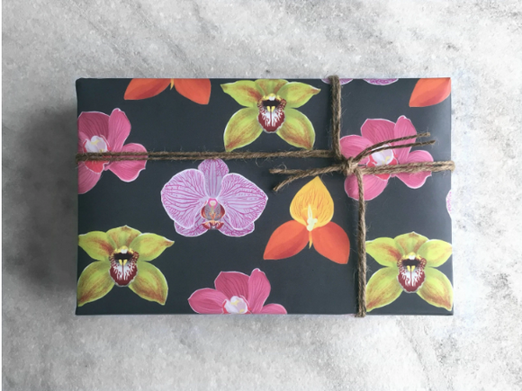 Orchid Gift Wrap - Single Sheet
