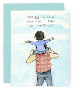 You are the rock - Father's Day Card