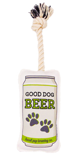Beer Tug & Fetch Rope Dog Toy
